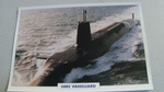 1990 HMS Vanguard submarine warship framed picture